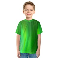 Green Background Abstract Color Kids  Sport Mesh Tee