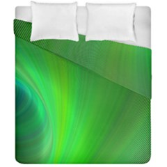 Green Background Abstract Color Duvet Cover Double Side (california King Size)