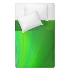 Green Background Abstract Color Duvet Cover Double Side (single Size)
