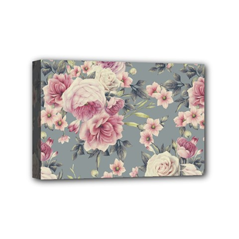 Pink Flower Seamless Design Floral Mini Canvas 6  X 4