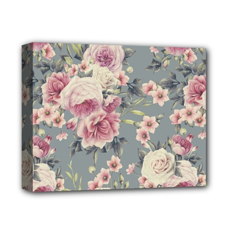 Pink Flower Seamless Design Floral Deluxe Canvas 14  X 11