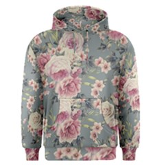 Pink Flower Seamless Design Floral Men s Pullover Hoodie