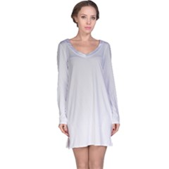 White Background Abstract Light Long Sleeve Nightdress