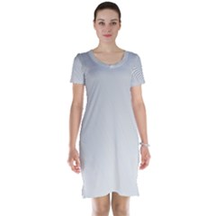 White Background Abstract Light Short Sleeve Nightdress