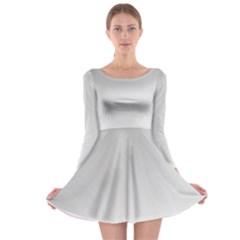 White Background Abstract Light Long Sleeve Skater Dress