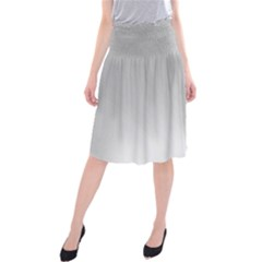 White Background Abstract Light Midi Beach Skirt