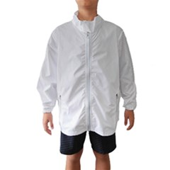 White Background Abstract Light Wind Breaker (kids)