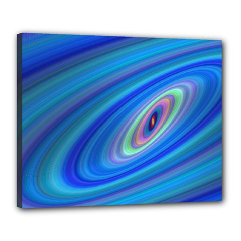 Oval Ellipse Fractal Galaxy Canvas 20  X 16