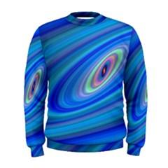 Oval Ellipse Fractal Galaxy Men s Sweatshirt