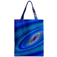 Oval Ellipse Fractal Galaxy Zipper Classic Tote Bag
