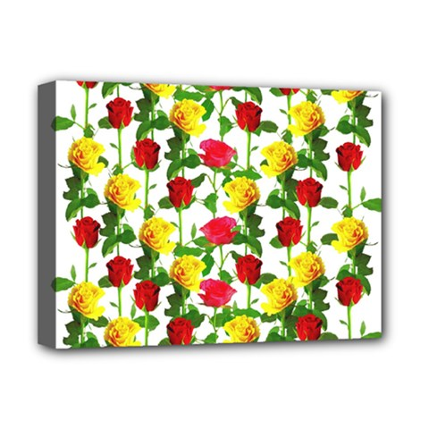 Rose Pattern Roses Background Image Deluxe Canvas 16  X 12