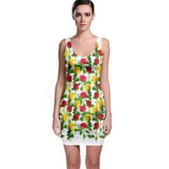 Rose Pattern Roses Background Image Bodycon Dress