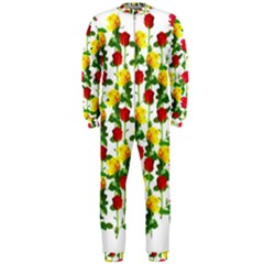 Rose Pattern Roses Background Image Onepiece Jumpsuit (men)