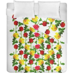 Rose Pattern Roses Background Image Duvet Cover Double Side (california King Size)