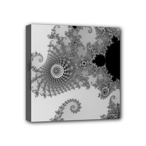 Apple Males Mandelbrot Abstract Mini Canvas 4  X 4