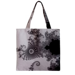Apple Males Mandelbrot Abstract Zipper Grocery Tote Bag
