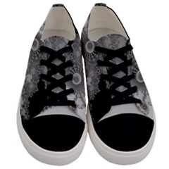 Apple Males Mandelbrot Abstract Men s Low Top Canvas Sneakers