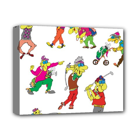 Golfers Athletes Deluxe Canvas 14  X 11