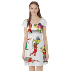 Golfers Athletes Short Sleeve Skater Dress