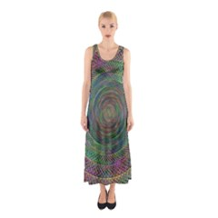 Spiral Spin Background Artwork Sleeveless Maxi Dress
