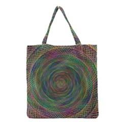 Spiral Spin Background Artwork Grocery Tote Bag