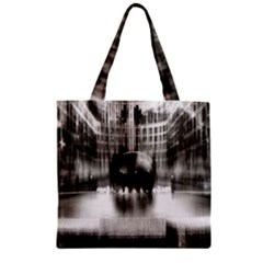 Black And White Hdr Spreebogen Zipper Grocery Tote Bag