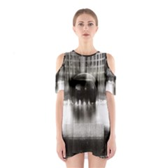 Black And White Hdr Spreebogen Shoulder Cutout One Piece