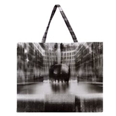 Black And White Hdr Spreebogen Zipper Large Tote Bag