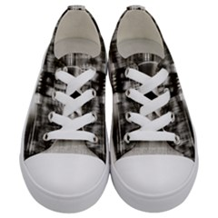 Black And White Hdr Spreebogen Kids  Low Top Canvas Sneakers