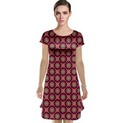 Kaleidoscope Seamless Pattern Cap Sleeve Nightdress
