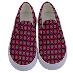 Kaleidoscope Seamless Pattern Kids  Canvas Slip Ons