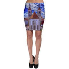 Steeple Church Building Sky Great Bodycon Skirt