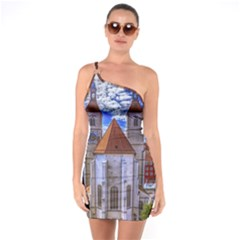 Steeple Church Building Sky Great One Soulder Bodycon Dress