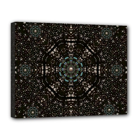 Pearl Stars On A Wonderful Sky Of Star Constellations Canvas 14  X 11