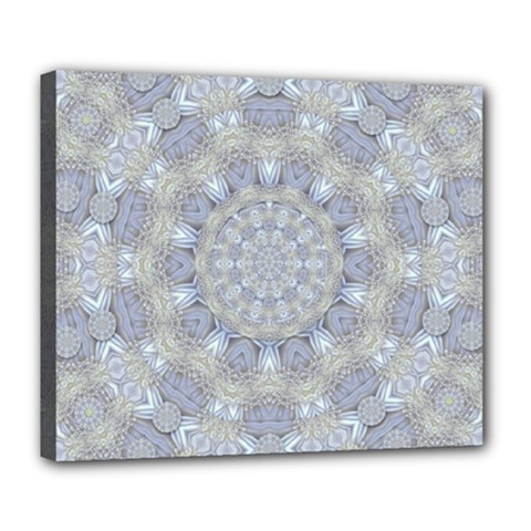 Flower Lace In Decorative Style Deluxe Canvas 24  X 20