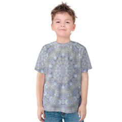 Flower Lace In Decorative Style Kids  Cotton Tee