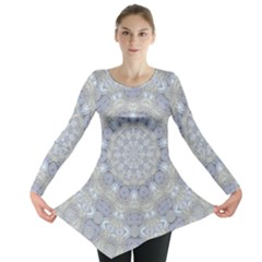 Flower Lace In Decorative Style Long Sleeve Tunic