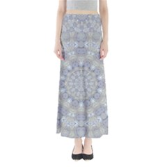 Flower Lace In Decorative Style Full Length Maxi Skirt