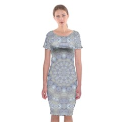 Flower Lace In Decorative Style Classic Short Sleeve Midi Dress