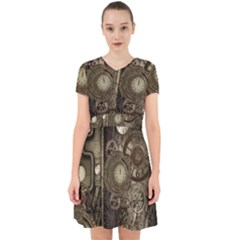 Stemapunk Design With Clocks And Gears Adorable In Chiffon Dress