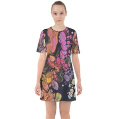 To Infinity And Beyond Sixties Short Sleeve Mini Dress