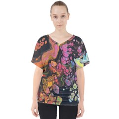 To Infinity And Beyond V Neck Dolman Drape Top