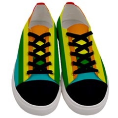 Colorful Stripes Lgbt Rainbow Flag Gay Pride Men s Low Top Canvas Sneakers