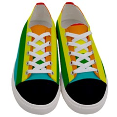 Colorful Stripes Lgbt Rainbow Flag Gay Pride Women s Low Top Canvas Sneakers