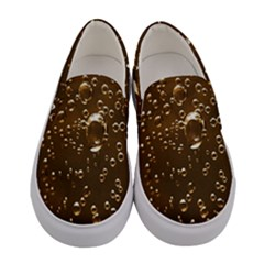 Shades Of Brown Gold Bubbles Sparkling Wine Champagne Golden Water Women s Canvas Slip Ons