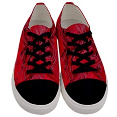 Red Roses Love Floral Elegant Chic Rose Photography Men s Low Top Canvas Sneakers