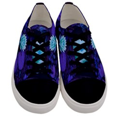 Lotus Flower Magical Colors Purple Blue Turquoise Floral Men s Low Top Canvas Sneakers