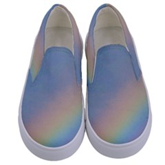 Rainbow Photography Kids  Canvas Slip Ons