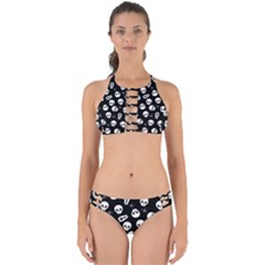 Skull, Spider And Chest    Halloween Pattern Perfectly Cut Out Bikini Set