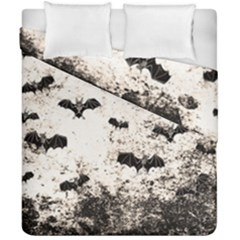Vintage Halloween Bat Pattern Duvet Cover Double Side (california King Size)
